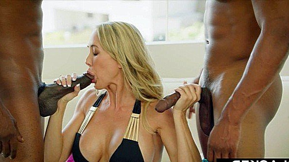 Бикса массивным членом мамка с негром (Brandi Love, Isiah Maxwell, Jason Brown)
